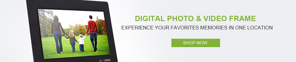 """Digital Photo & Video Frame Experience Your Favorites Memories in One Location"""