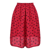 New Stylish Ladies Women Autumn Summer Casual Heart Print Sexy Skirt