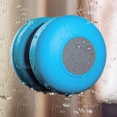 Mini HIFI Waterproof Wireless Bluetooth Handsfree Mic Suction Speaker Shower Blue