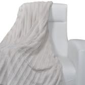 Beige Artificial Fur Throw Blanket 150 x 200 cm