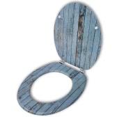 Coperchio da Toilette in MDF con Modello Legno Invecchiato