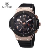 MEGIR Fashion Brand Army Watches Silicone Military Quartz Men Sport Watch Waterproof 24 Hours Calendar Wristwatch