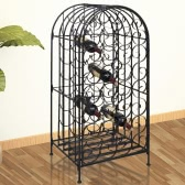 Metal Wine Cabinet Rack Wine Stand for 35 Bottles