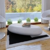 Coffee Table Fiber Glass White