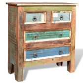 Reclaimed Wood Cabinet with 4 Drawers