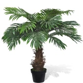 Lifelike Artificial Cycus Palm Tree with Pot 80 cm