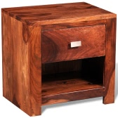Sheesham Solid Wood Bedside Cabinet with 1 Drawer