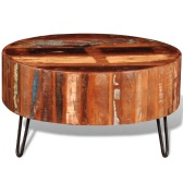Reclaimed Solid Wood Round Coffee Table
