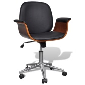 Adjustable Swivel Office Chair Artificial Leather