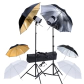 Studio Kit with 2 Flash Heads 2 Tripods 6 Umbrellas UK