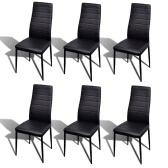 6 pcs Black Slim Line Dining Chair