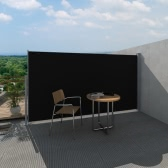 Patio Terrace Side awning 180 x 300 cm Black