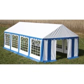 Party Tent Top and Side Panels 8 x 4 m Blue & White