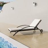 Rattan Sunbed Backrest Adjustable Black