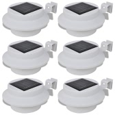Outdoor Solar Lamp Set 6 pcs Fence Light Gutter Light White
