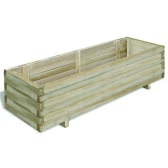 Rectangular Wooden Planter 120 x 40 x 30 cm