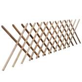 Valla enrejada expandible de madera impregnada 250 x 100 cm