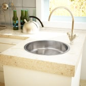 Küchenspüle Rundspüle Einbauspüle Waschbecken Edelstahl
