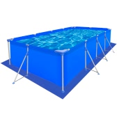 Pool Ground Cloth PE Pool Sheet Rectangular for 400 x 207 cm