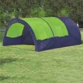 Tenda da campeggio in poliestere per 6 persone Blu-Verde
