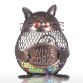 Kitten Wine Cork Container Tooarts Animal Ornament Creative Ornament Iron Art Practical Crafts Home Decoration Gift
