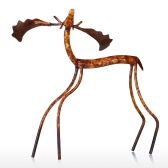 Raise Head Moose Tooarts Iron Sculpture Home Decoration Crafts Metal Animal Sculpture