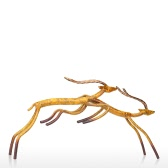 3 Antelopes Tooarts Iron Sculpture Home Decoration Crafts Animal Sculpture
