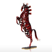 Metal Weaving Horse Tooarts Iron Sculpture Home Decoration Crafts Animal Sculpture