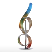 Tooarts Square y Ribbon Modern Sculpture Abstract Sculpture Metal Sculpture