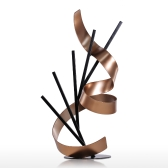 Tooarts Straight Line and Ribbon Modern Sculpture Metal Sculpture Iron Abstract Sculpture Home Decor