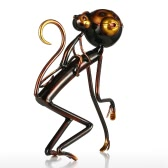 Monkey Carrys Baby Tooarts Metal Sculpture Iron Sculpture Abstract Sculpture Modern Sculpture Home Decoration Ornament Gift
