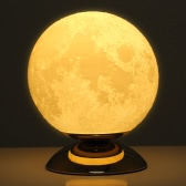 Tooarts Moon Lamp 3D Printing Lamp Modern Sculpture Home Decoration Ornament Artwork Modern Art Moon Lunar Decor Gift US Plug 250V/110V 50/60Hz