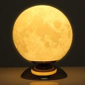 Tooarts Moon Lamp 3D Printing Lamp Modern Sculpture Home Decoration Ornament Artwork Modern Art Moon Lunar Decor Gift US Plug 250V/110V 50/60Hz