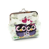New Fashion Vintage Women Lady Cute Owl Pattern Small Wallet Hasp Purse Clutch Bag