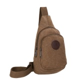New Men Vintage Canvas Bags Zipper Closure Adjustable Strap Outdoor Travel Casual Shoulder Crossbody Bag