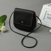 Vintage Crossbody Solid Snap Cover Small Shoulder Messenger Women