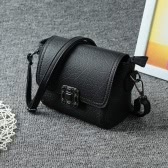 Vintage Soft PU Hasp Flap Mini Shoulder Messenger Women