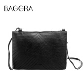 New Women Quilted Crossbody Bag PU Leather Messenger Shoulder Bag Zipper Clutch HandBag Khaki/Black