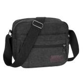 New Fashion Unisex Canvas Crossbody Bag Zipped Pocket Casual Travel Outdoor Small Shoulder Bag