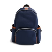 Men Women Nylon Backpack Earphone Pot Zipper Adjustable Strap Casual School Travel Shoulder Bag