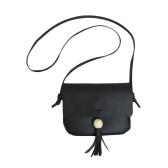 New PU Leather Shoulder Bag for Women Cute Solid Casual Crossbody Bags Girls Mini Bag Tote Black/Brown/Grey