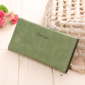 New Fashion Women Long Wallet Soft PU Leather Candy Color Casual Purse Card Holder