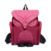 New Fashion Women Owl Shape Backpack Flap Over Zipper Pocket Solid Color Satchel Student Bags