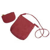 New Women PU Crossbody Bag Lash Package Casual Vintage Two-piece Shoulder Messenger Bags