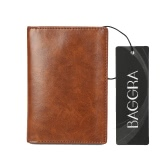 New Men PU Wallet Clip Money High Quality Cash Credit Card Holder Business Thin Purse Brown/Coffee
