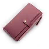 Fashion Women Purse PU Leather Casual Long Wallet Phone Card Holder Zipper Cash Money Clutch Bag