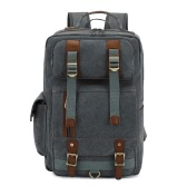 Vintage Men Canvas Backpack Large Capacity Outdoor Casual Travel Bag