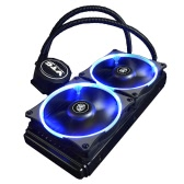 VTG240 Liquid Freezer Water Liquid Cooling System CPU Cooler Fluid Dynamic Bearing 120mm Dual Fans with Blue LED Light