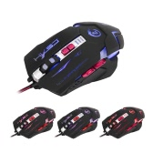 HXSJ H600 Ergonomic Gaming Mouse Macro Definition Programming USB Wired Competitive Game Mice 3200DPI Adjustable 7 Programmable Buttons Breathing LED Light