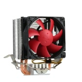 PCCOOLER 2 Heatpipes Radiator Quiet 3pin Mini CPU Cooler Heatsink Fan Cooling with 80mm Fan for Desktop Computer